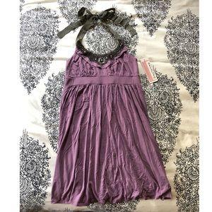 Decoded 1.8 Dress Purple Beaded Size L